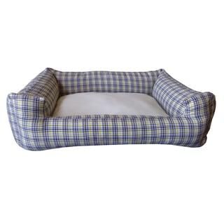 Plaid Multi-colored Small Chill Pet Bed