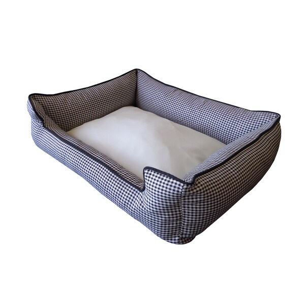Vel White/ Black Small Chill Pet bed