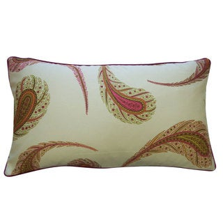 12 x 20-inch Peacock Cream Decorative Throw Pillow