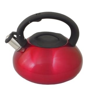 Red Belly-Shaped Whistling Stainless Tea Kettle