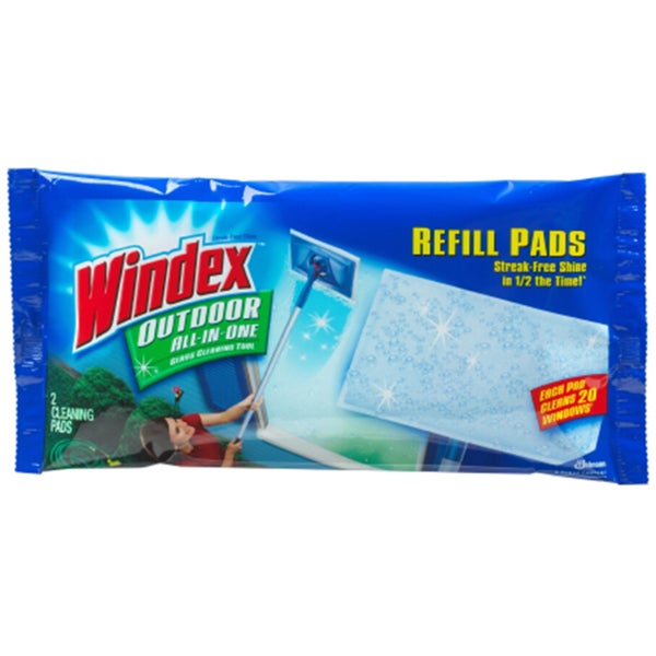 Windex Two Outdoor Glass Cleaning Refill Pads (Pack of 9)