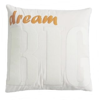 Contemporary Neutral Inspirational Word Applique Decorative Pillow