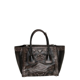 Prada Vintage Embellished Leather Tote