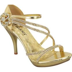 Women's Wild Diva Essential-28 Gold Faux Leather