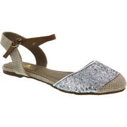 Women's Wild Diva Faith-1 Silver Fabric/Glitter