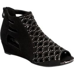 Women's Wild Diva Flair-09 Black Faux Leather