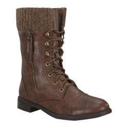 Women's Wild Diva Justina-58 Brown Faux Leather