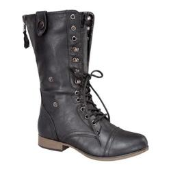 Women's Wild Diva Legend-9 Black Faux Leather