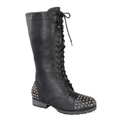 Women's Wild Diva Margie-14 Black Faux Leather