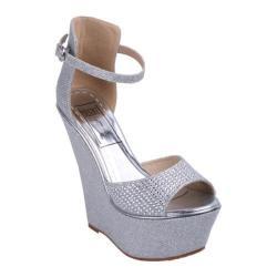 Women's Wild Diva Moda-5 Silver Faux Leather