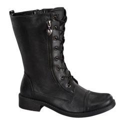 Women's Wild Diva Moto-88 Black Faux Leather