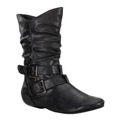 Women's Wild Diva Tamika-32 Black Faux Leather