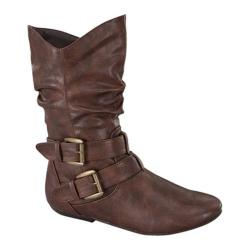 Women's Wild Diva Tamika-32 Brown Faux Leather