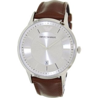 Armani Men's AR2463 Classic Brown Leather Watch