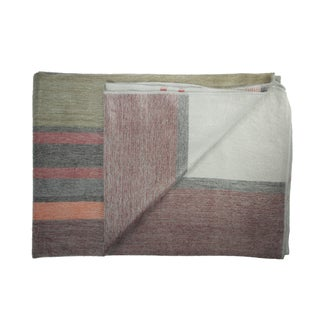 Hand-crafted Eco-friendly Sherbet Alpaca Throw Blanket (Ecuador)