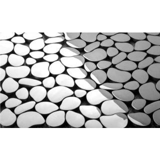 Martini Mosaic Pebble Chrome 12x12-inch (Case of 7)