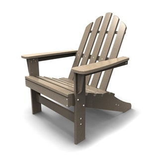 Outdoor Living Adirondack Chair in Weathered Wood
