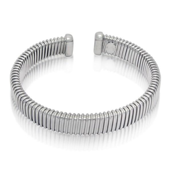 Gioelli Sterling Silver Wide Wire Cuff Bracelet