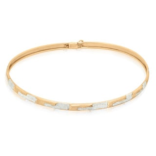 Gioelli Gioelli 10k Two-tone Gold Diamond-cut Designer Bracelet