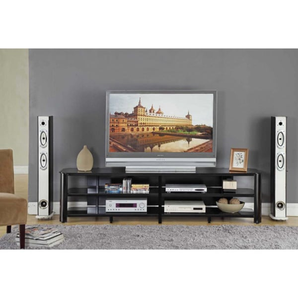 InnovEx Oxford 83-inch Black TV Stand