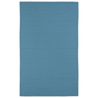 Indoor/ Outdoor Malibu Woven Teal Rug (9' x 12')