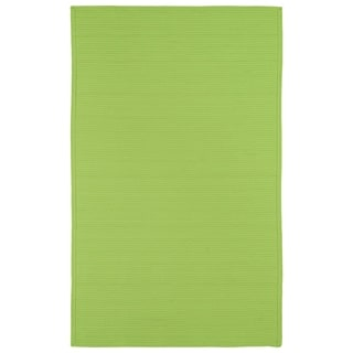Indoor/ Outdoor Malibu Woven Lime Green Rug (5' x 8')