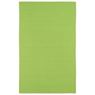 Indoor/ Outdoor Malibu Woven Lime Green Rug (3' x 5')