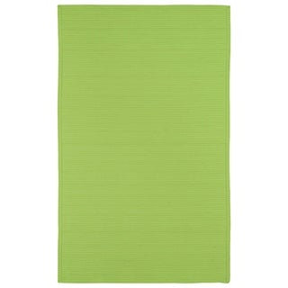Indoor/ Outdoor Malibu Woven Lime Green Rug (2' x 3')