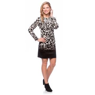 Vince Camuto Women's Animal Printed Long-sleeve Dress