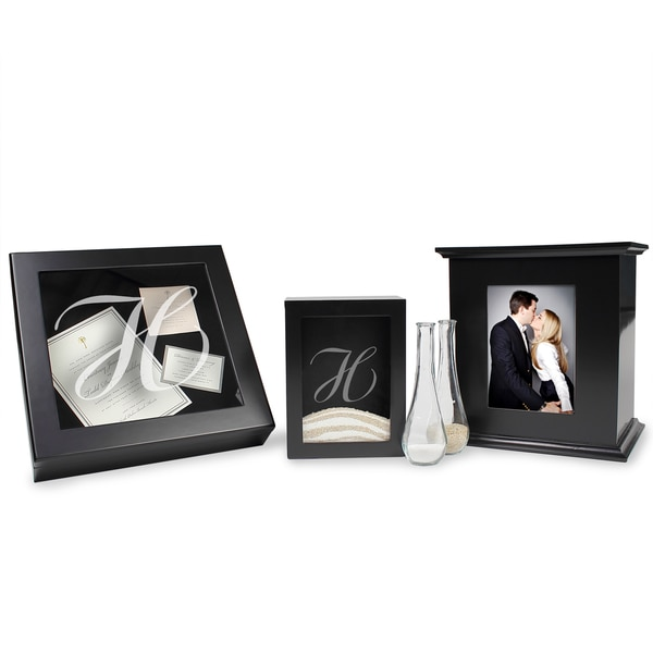 Personalized Black 3-piece Shadow Box Set