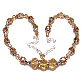 Golden Crystal 4-piece Wedding Jewelry Set