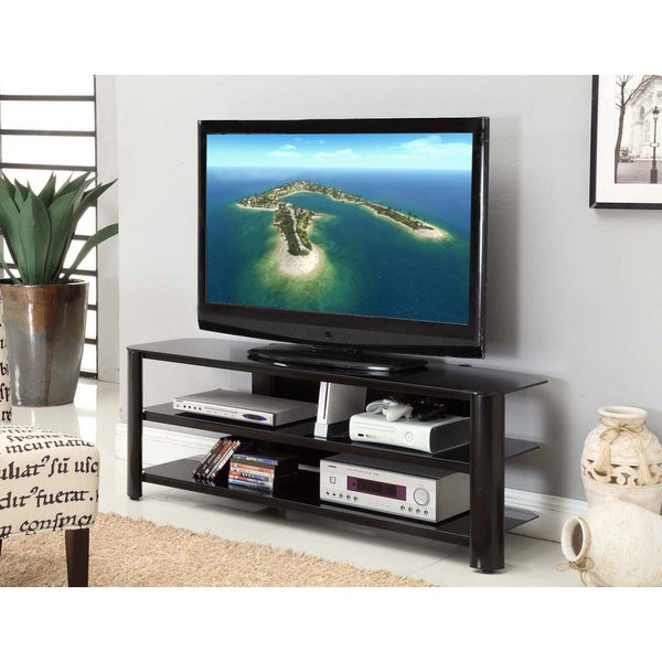 InnovEx Oxford 58-inch Black TV Stand