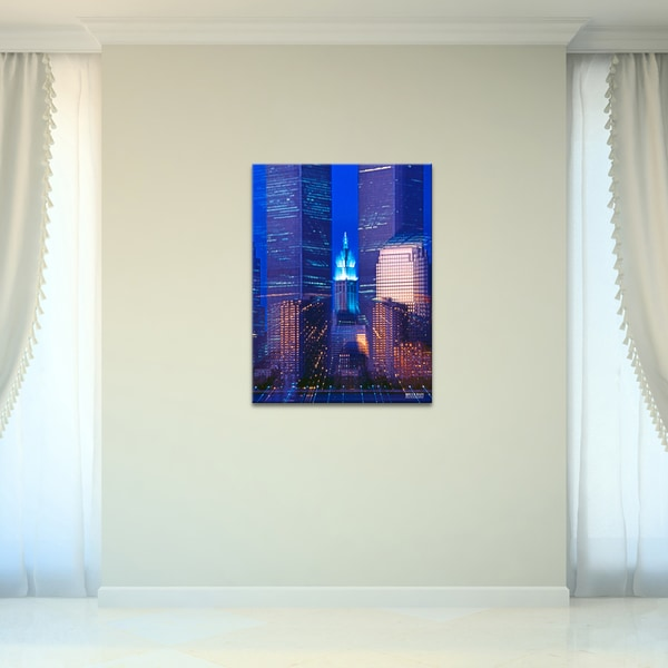 Bruce Bain 'Twin Towers' Canvas Wall Art 13144219