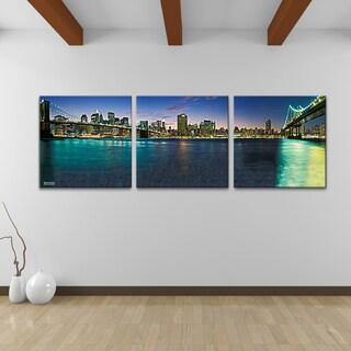 Bruce Bain 'Bridges' Canvas Wall Art (3-piece Set)