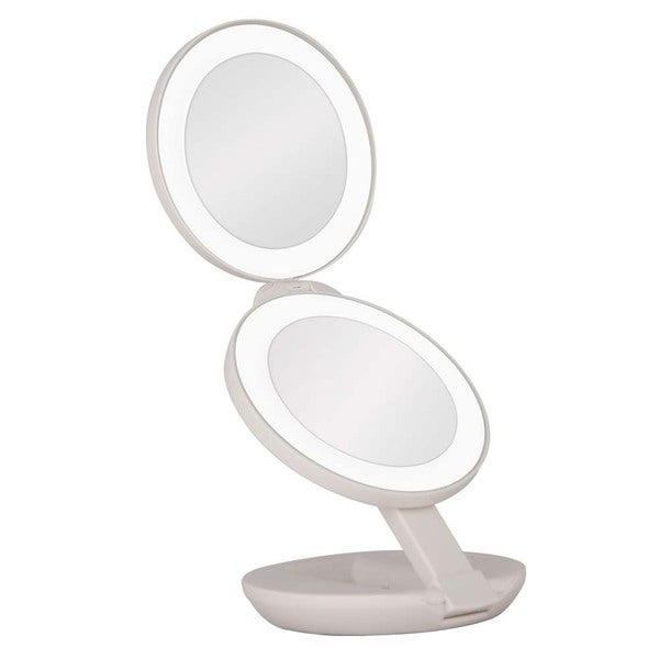 zadaro led lighted 1x 10x magnification travel mirror 16316922. Black Bedroom Furniture Sets. Home Design Ideas