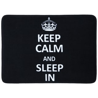"Mohawk Home Memory Foam 'Keep Calm Sleep In' Black Bath Mat (17"" x 24"")"