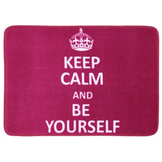 Memory Foam Keep Calm Be Yourself Pink 17 x 24 Bath Mat