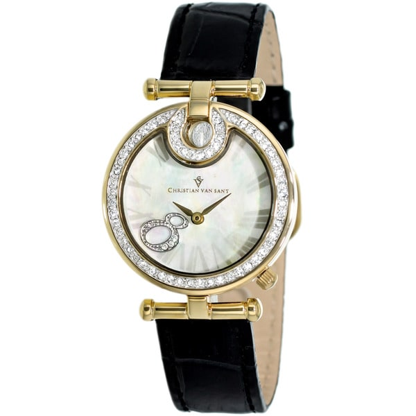 Christian Van Sant Women's Black Glamour Watch