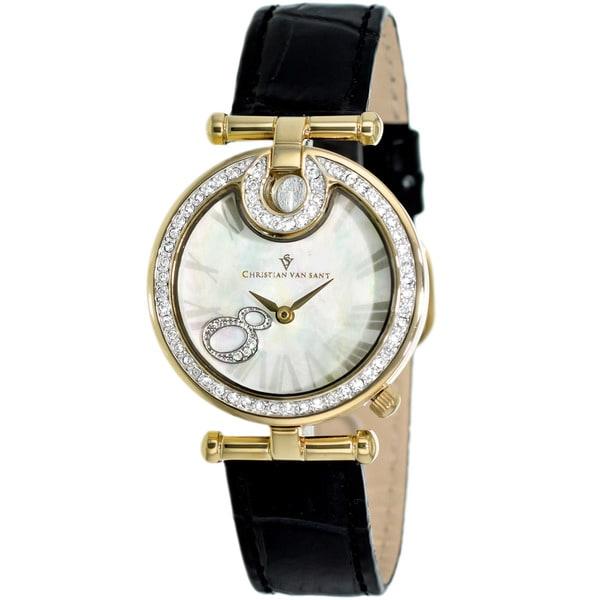 Christian Van Sant Women's Black Glamour Watch