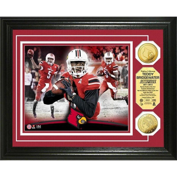 Teddy Bridgewater Louisville Gold Coin Photo Mint