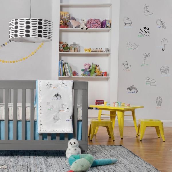 Babyletto Alphabets 5-piece Crib Bedding Set