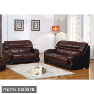 Novel Genuine Leather 2-piece Sofa and Loveseat Set
