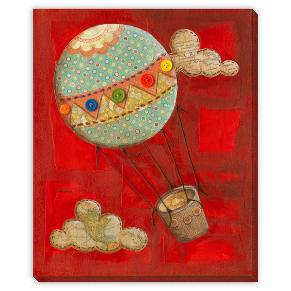 Dee Nessa's 'Vintage Balloon' Canvas Gallery Wrap