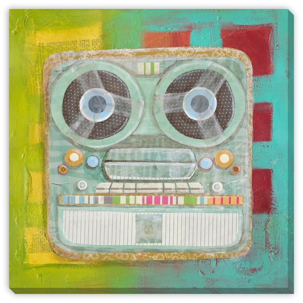 Dee Nessa's 'Vintage Tape Recorder' Canvas Gallery Wrap