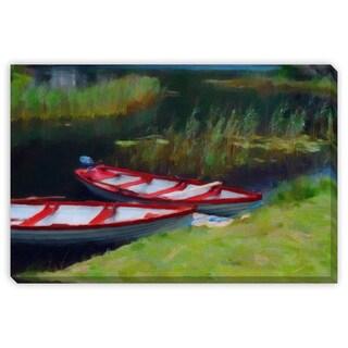Kim Curinga's 'Row Boats' Canvas Gallery Wrap