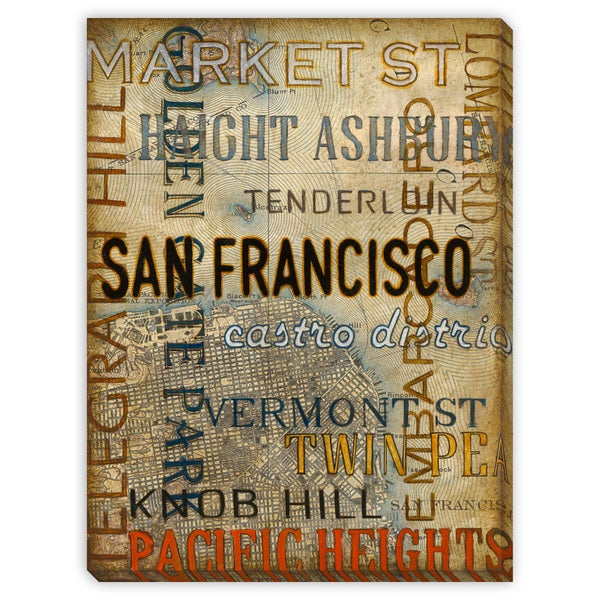 St. John's 'San Francisco' Canvas Gallery Wrap