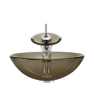 Polaris Sinks P736 Bronze Foil/ Brushed Nickel Vessel Sink and Faucet
