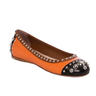 Prada Women's Tri-color Leather Studded Flats