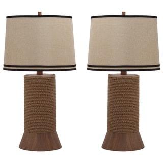 Thom Filicia Lighting 36-inch Hemp Brown Alex Bay Table Lamp