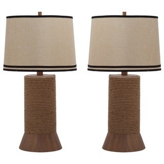 Thom Filicia Indoor 1-light Hemp Brown Alex Bay Table Lamp